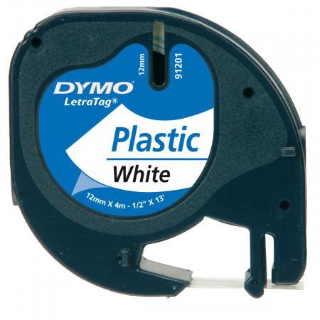 K7 Letratag plastique 12mmX4m NOIR / BLANC