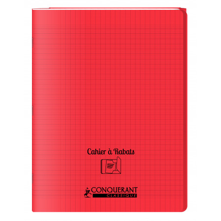 CAHIER POLYPRO A RABAT, Grand Format, Grands Carreaux, 24X32 - 96 PAGES SEYES ROUGE