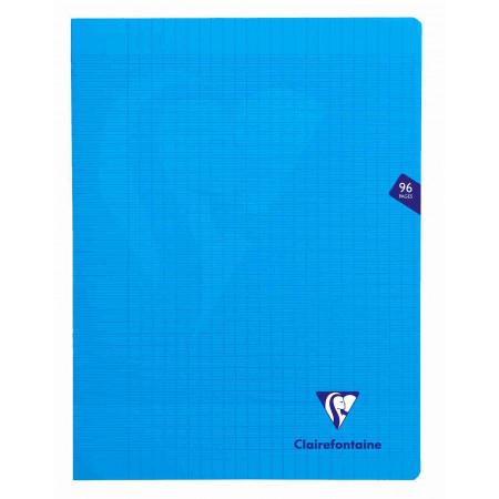 Mimesys cahier piqué polypro 24x32cm 140p séyès coloris assortis