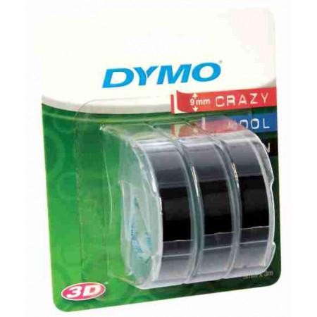 3 RUBANS 3D DYMO NOIR 9MM