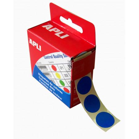 BOITE 150 PASTILLES - COULEUR BLEU, Diamètre 15mm