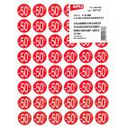 PAQUET 4 FEUILLES 192 ETIQUETTES - REMISE -50% D24mm