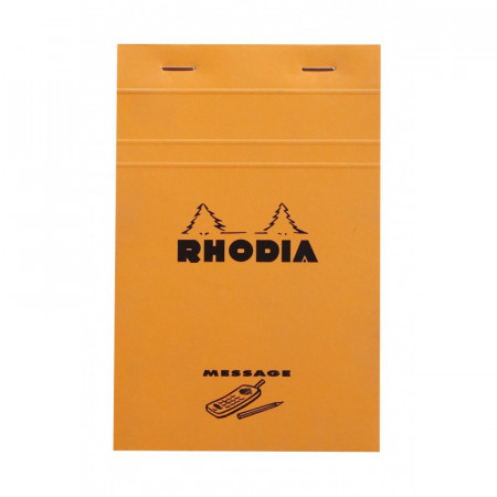 Bloc agrafé Rhodia ORANGE Message 11x17cm 80F 80g
