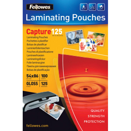 POCHETTE PLASTIFICATION (100) 54*86/ 125MIC