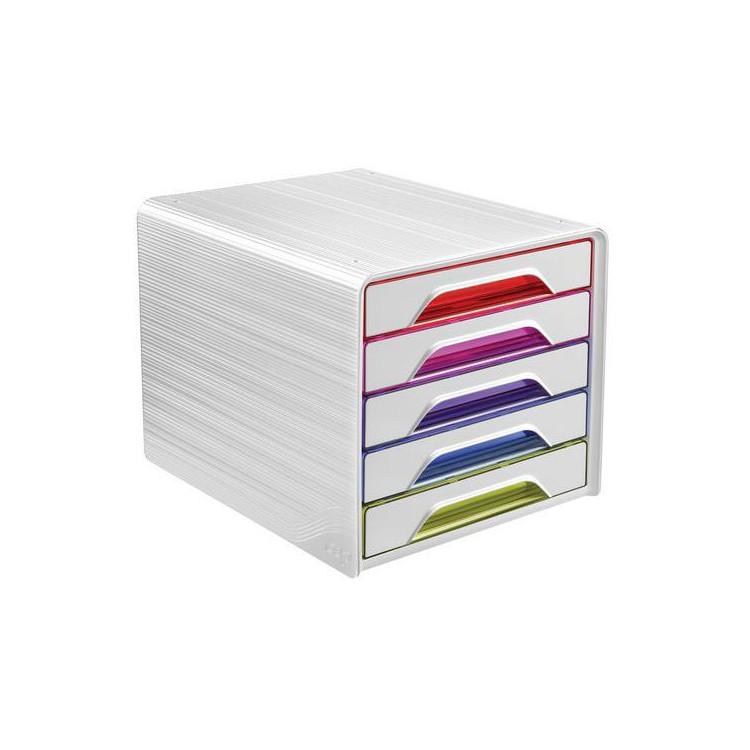 Bloc de classement 5 tiroirs - Happy Multicolor - Smoove