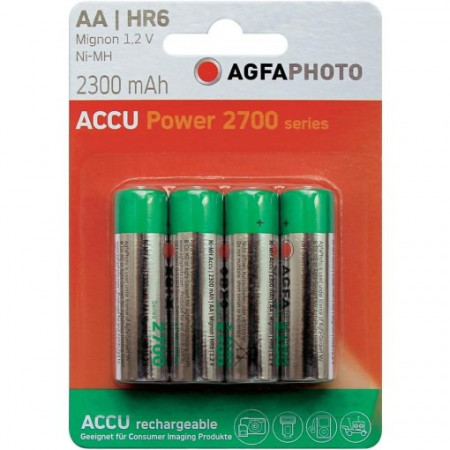 PILE RECHARGEABLE AA(LR6)X4 2000MAH