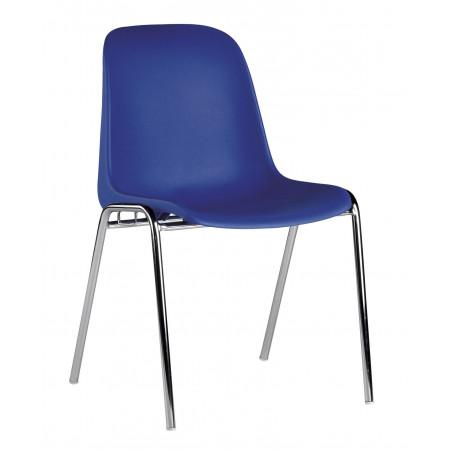 Chaise coque emplilable SITEK - Bleu