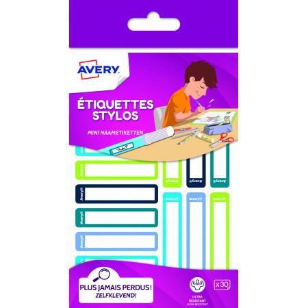 ETIQUETTES X30 STYLOS BLEU/VERT