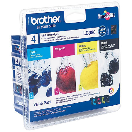 BROTHER PACK 4 COULEURS BK/C/Y/M