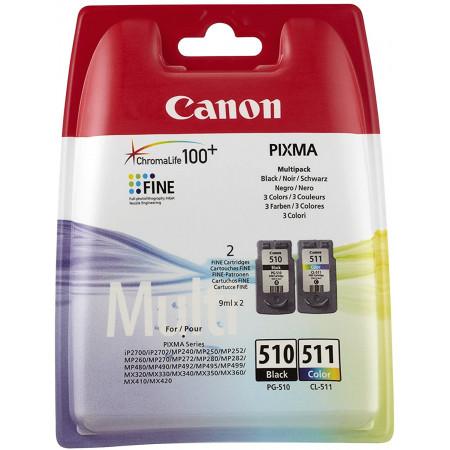 Canon PG-510/CL-511 Cartouche Multipack Noire + Couleur