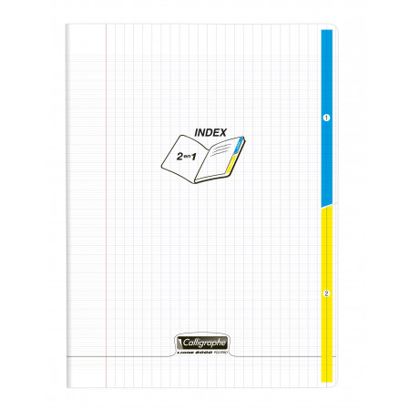 CAHIER 2 ONGLET 24X32 96P TRANSPARENT POLYPRO