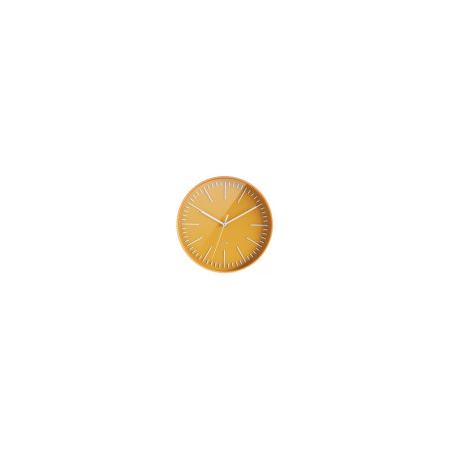 Horloge ronde 30cm - Jaune Moutarde