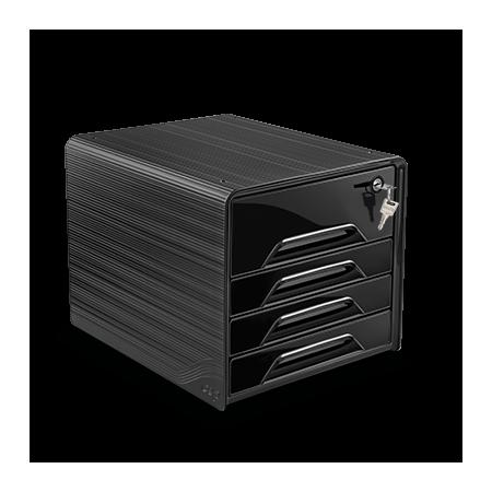 Bloc de classement 4 tiroirs Smoove Secure - CEP - noir
