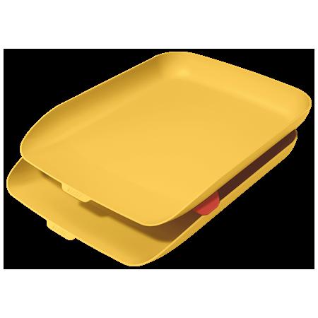 Corbeille à courrier Cosy jaune lot de 2