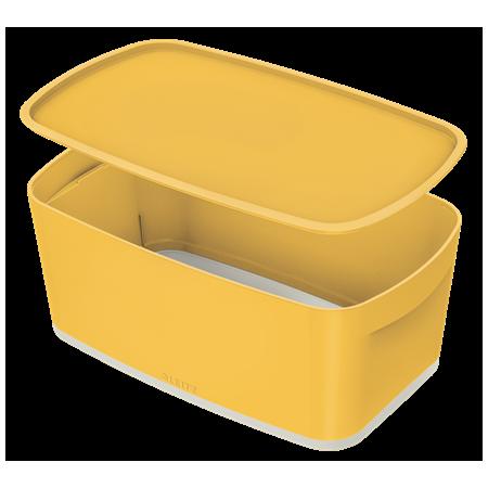 Boîte de rangement MyBox Cosy jaune