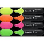SURLIGNEURS - SURLIGNEUR JOB - 1 + 5mm - EPAISSEUR DE TRAIT - Blister de 4 surligneurs