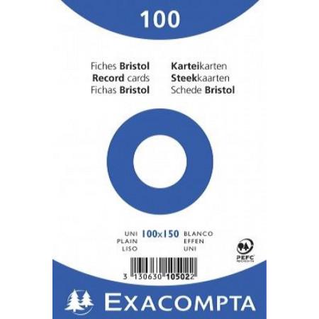 PAQUET DE 100 FEUILLES BRISTOL - 100X150 - UNI BLANC
