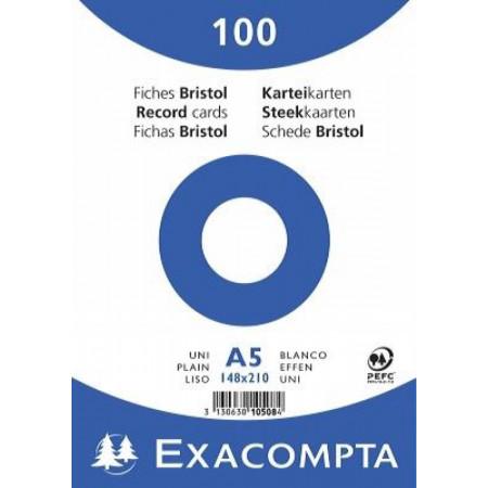 PAQUET DE 100 FEUILLES BRISTOL - 148X210 - UNI BLANC