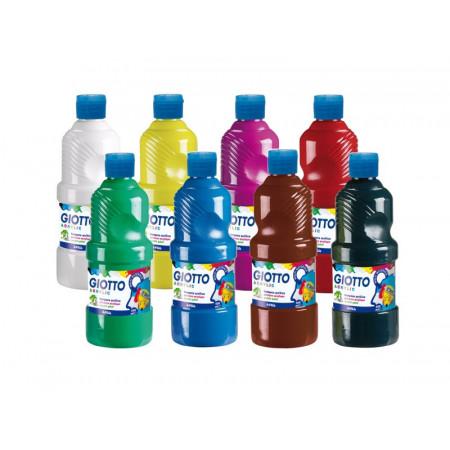 ASSORTIS 8X500ML (blanc, jaune, rouge, magenta, vert, cyan, noir, marron)