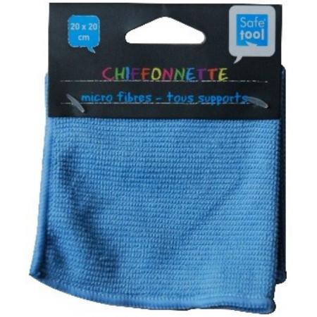 CHIFFONNETTE BLEU MICROFIBRE 20*20CM