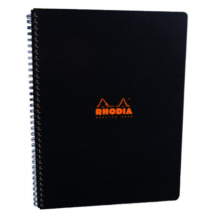 MEETING BOOK - Format A4 - NOIR - 160 Pages