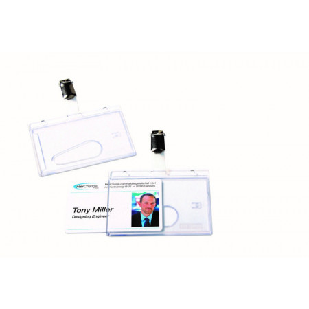 PORTE BADGE POUR CARTE DE SECURITE+CLIP