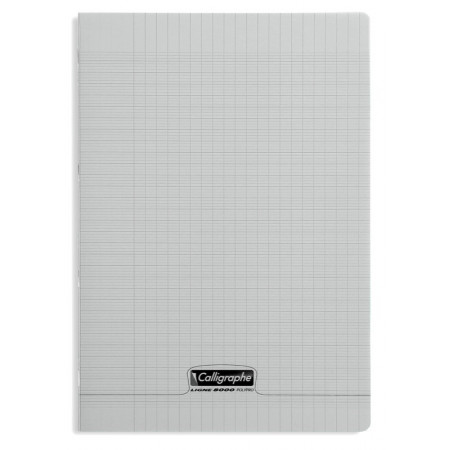 CAHIER POLYPRO 21X29,7 96P SEYES GRIS