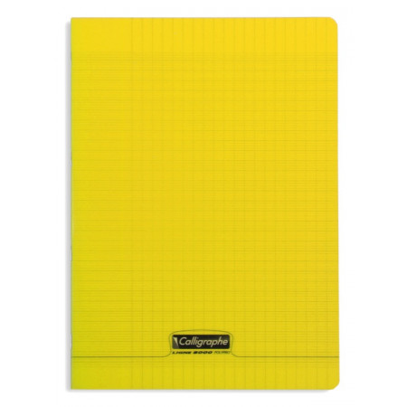 CAHIER POLYPRO, Format A4, Grands Carreaux, 21X29.7 - 96 PAGES SEYES JAUNE