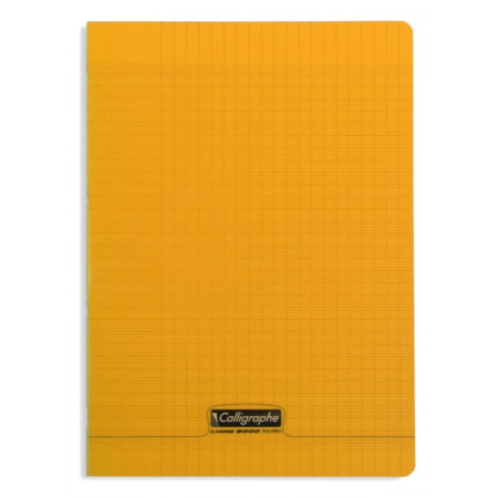 CAHIER POLYPRO, Format A4, Grands Carreaux, 21X29.7 - 96 PAGES SEYES ORANGE