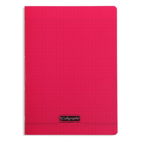 CAHIER POLYPRO, Format A4, Grands Carreaux, 21X29.7 - 96 PAGES SEYES ROUGE