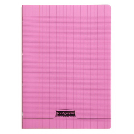 CAHIER POLYPRO 21X29,7 96P SEYES ROSE