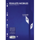 PAQUET COPIES SIMPLE PERFOREE, Format A4, Grands Carreaux, 21X29.7 - 100 PAGES SEYES