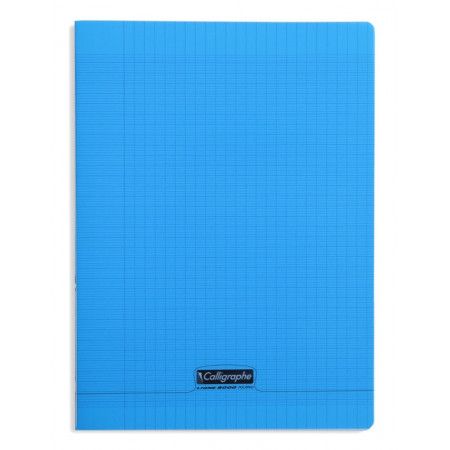 CAHIER POLYPRO, Grand Format, Grands Carreaux, 24X32 - 96 PAGES SEYES BLEU