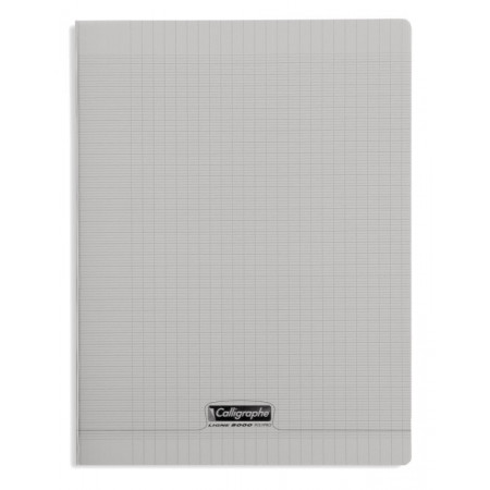 CAHIER POLYPRO 24X32 96P SEYES GRIS