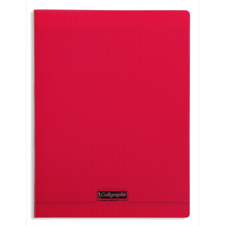 CAHIER POLYPRO 24X32 96P SEYES ROUGE
