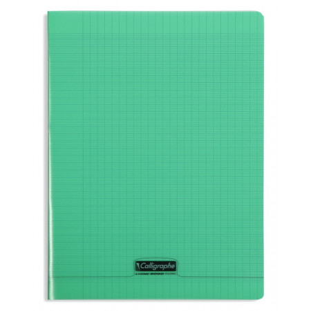 CAHIER POLYPRO, Grand Format, Grands Carreaux, 24X32 - 96 PAGES SEYES VERT