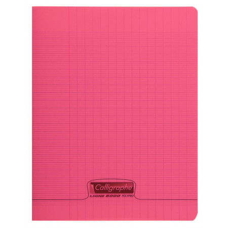 CAHIER POLYPRO 17X22 96P SEYES ROUGE