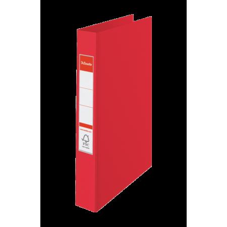 CLASSEUR RIGIDE RELIURE 4 ANNEAUX, Format A4, 21X29.7, Dos 35MM - ROUGE