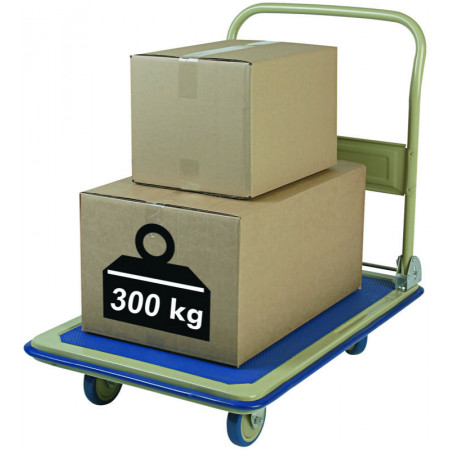 CHARIOT PLIANT 300KG PLATEAU/TUBES ACIER