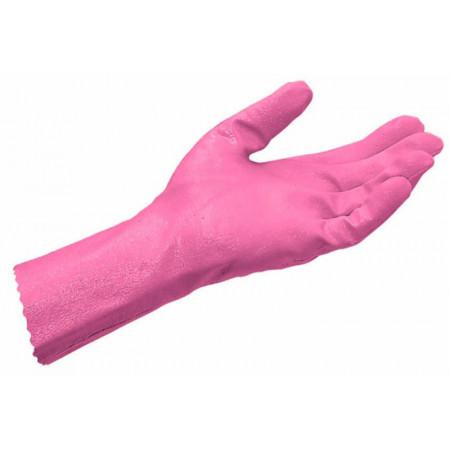 Paire de gants de ménage rose 8-9
