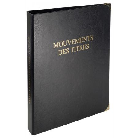 REGISTRE CLASSEUR MOUVEMENT TITRES