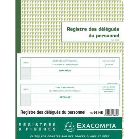 REGISTRE DÉLÉGUÉS DU PERSONNEL (6614)