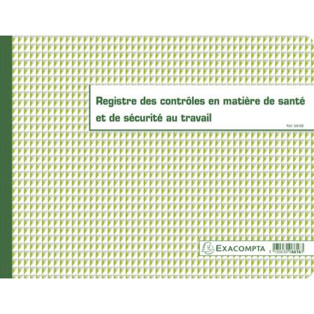 REGISTRE DES CONTRÔLES EN MATIERE DE SANTE ET DE SECURITE AU TRAVAIL