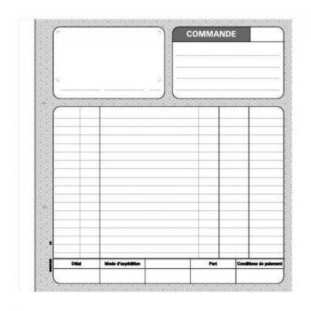 CARNET COMMANDE NCR 50/DUPLI 210X297