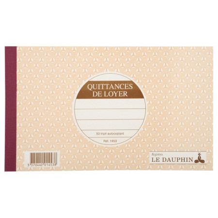CARNET QUITTANCES DE LOYER