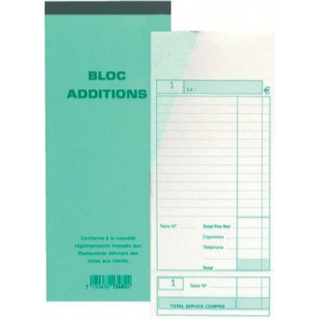 BLOC ADDITION DUPLI 9.1*22.5 CM