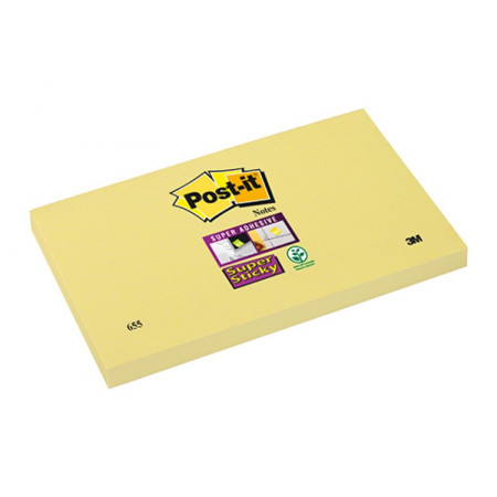 POST-IT SUPER STICKY 75X125 JAUNE
