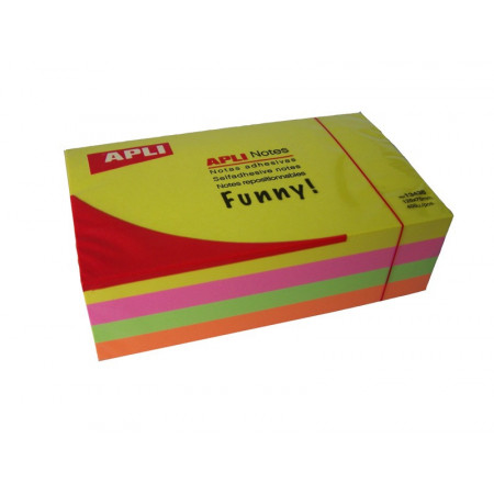 LOT 4 POST IT 75*125 FLUO JAU/FUS/VER/OR
