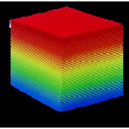 Recharge arc-en-ciel supplémentaire pour bloc-cube plexi non encollés