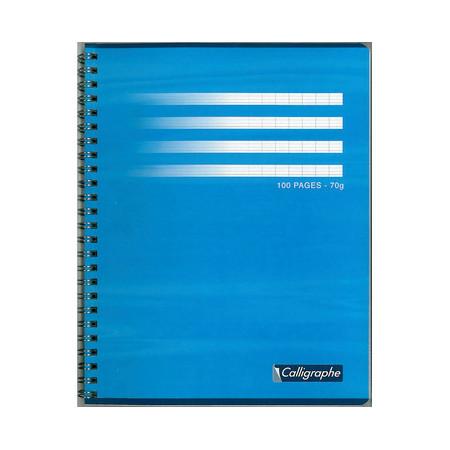 CAHIER DOS SPIRALE, Petit Format, Grands Carreaux, 17X22 - 100 PAGES SEYES